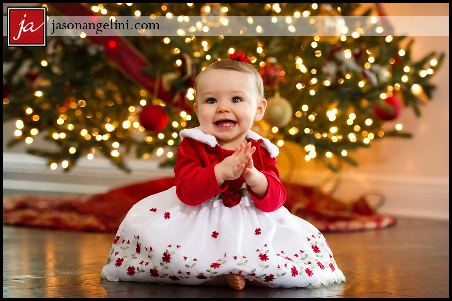 9 Month Christmas Portrait Session Ruth And Jared S